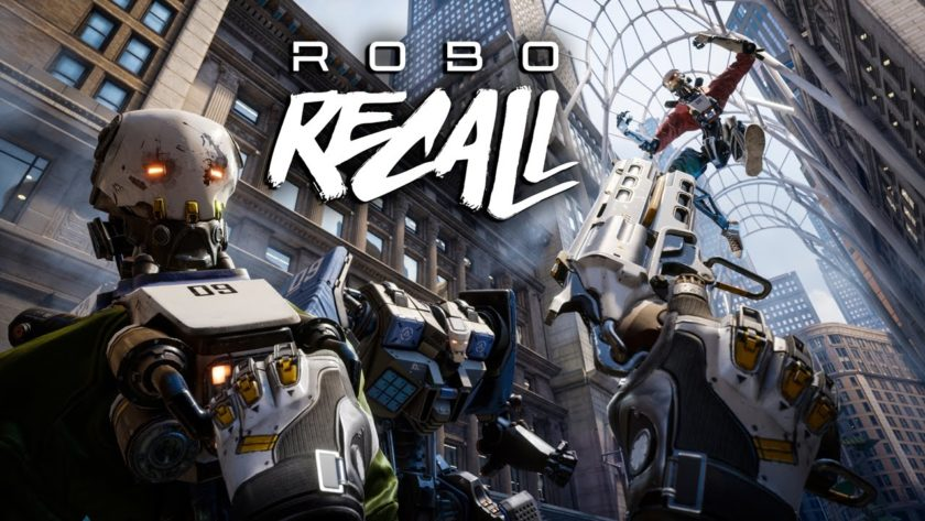 Mike stürzte sich mit Robo Recall in Virtual Reality. ©Epic Games