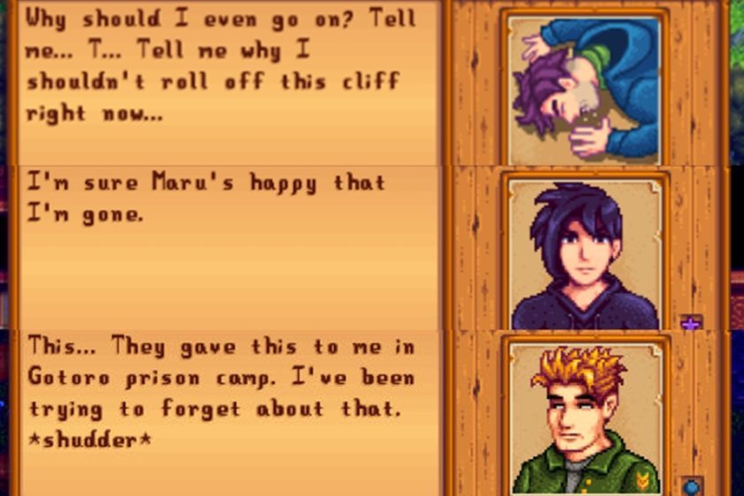 Ein paar Dialoge, die man im Laufe des Spiels führt, haben es in sich.