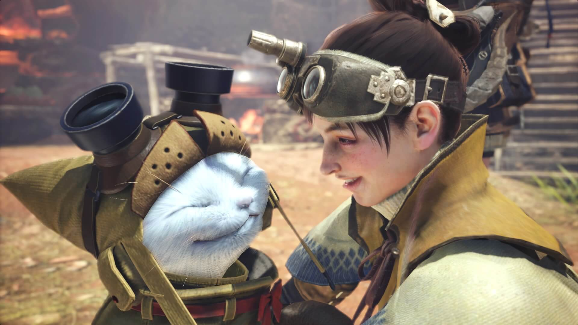 Palico und Wildexpertin helfen in Monster Hunter World