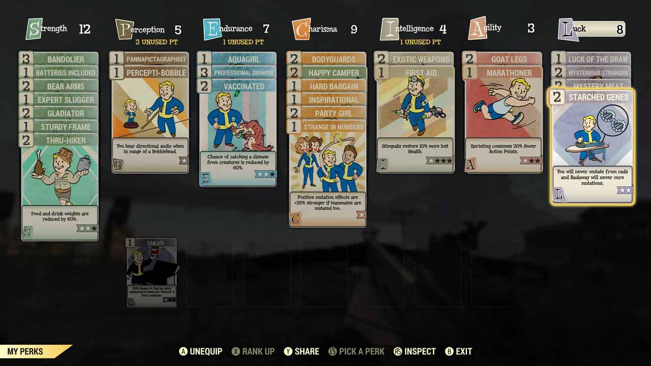 Perks spielen in Bethesdas Fallout 76 eine wichtige Rolle