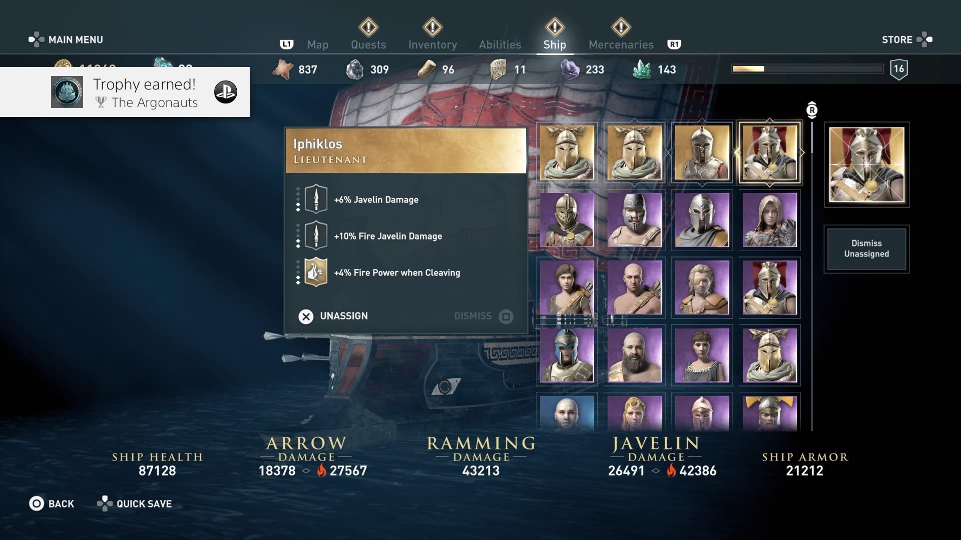 Ein wichtiges Element in Assassin's Creed Odyssey ist die Zusammenstellung der Schiffscrew