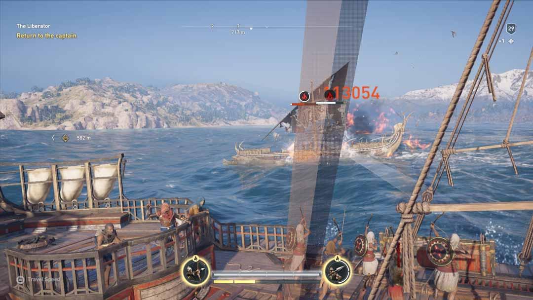 Schiffschlachten auf hoher See sind ein Highlight von Assassin's Creed Odyssey