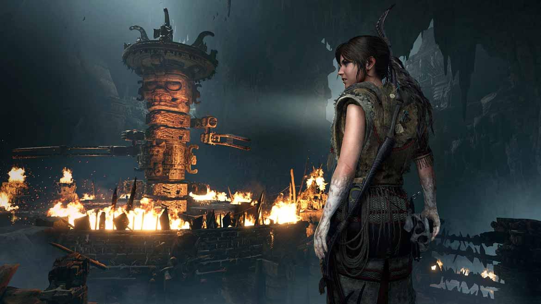 Wie kommt Lara an den Schatz auf diesem Totem?