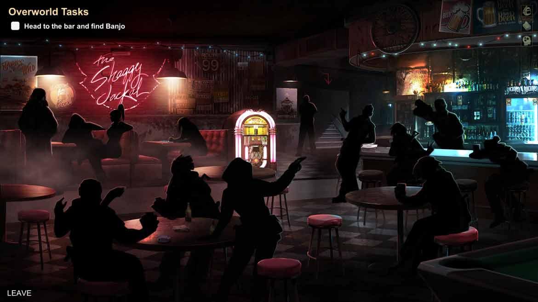 In dieser zwielichtigen Bar erwarten uns in HellSign ebenso zwielichtige Gestalten
