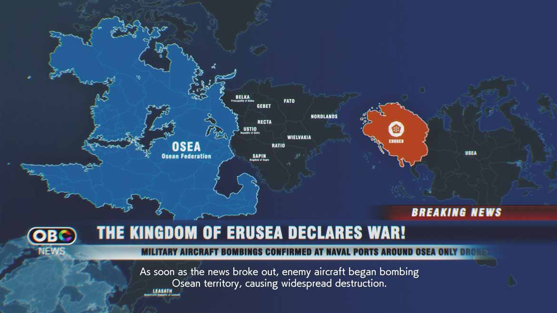 Erusea erobert den Kontinent Usea. Osea schlägt zurück.