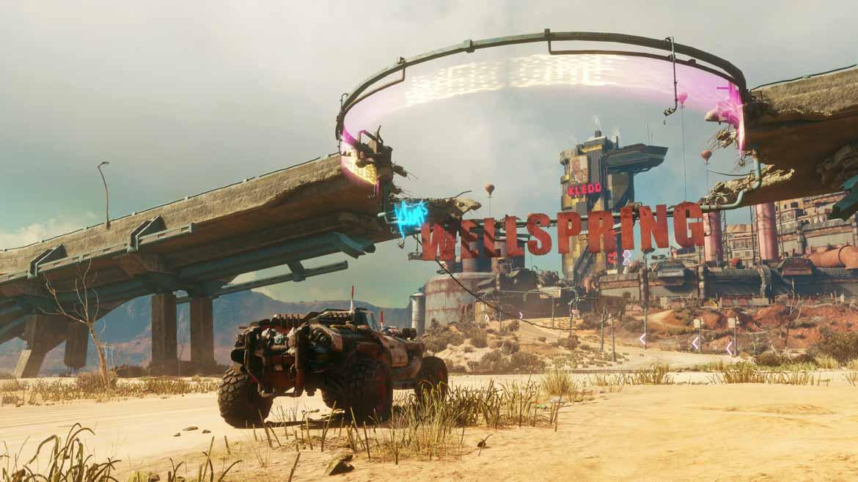 Im Gegensatz zu Anthem macht es in RAGE 2 durchaus Sinn, dass es im Wasteland nicht viel zu entdecken gibt.